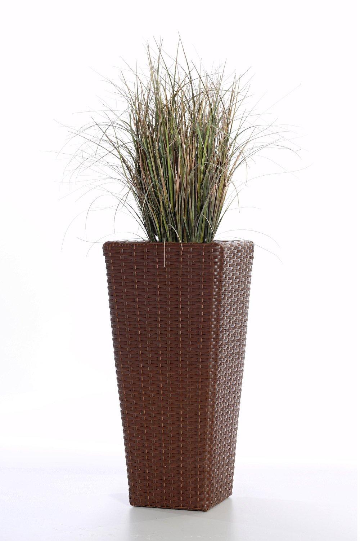 Polyrattan Blumenkübel Übertöpfe Pflanzkübel Blumentopf \
