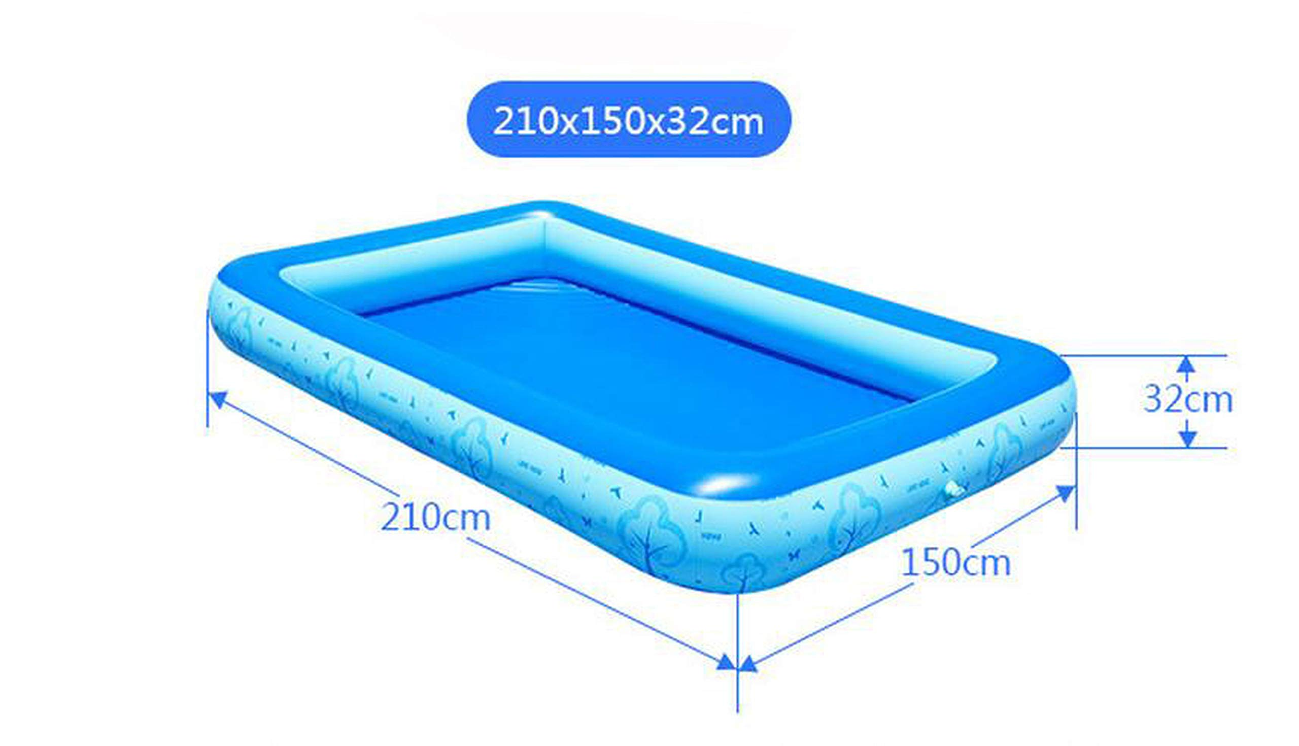 QIUHUAXIANG One Layer Inflatable Swimming Pool Extra Large Beach Pool for Adults and Children Summer Sand Ball Fun,The Tree