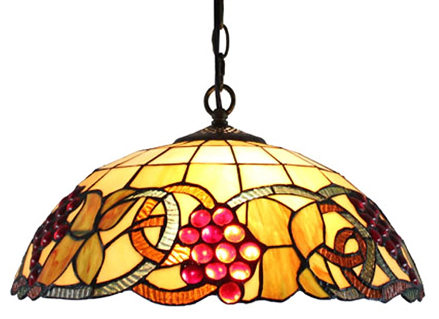 tiffany style pendant light fixture. Amora Lighting AM1040HL16 Tiffany Style Colorful Hanging Pendant Ceiling Lamp, 16\ Light Fixture F