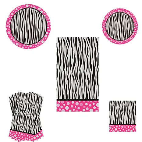 Superb Amazon Com Pink Polka Dot Zebra Print Party Decorations Interior Design Ideas Clesiryabchikinfo