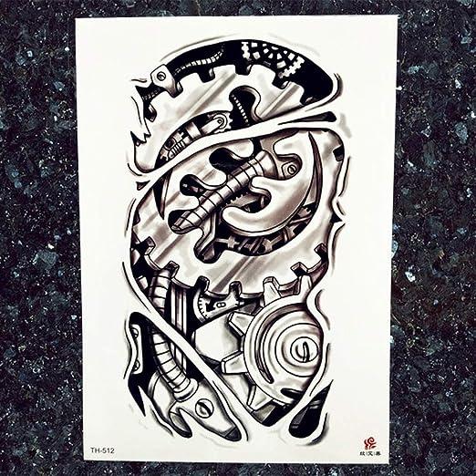 tzxdbh 5Pcs-Hombres Gran Robot Robot Tatuaje Pegatinas Negro India ...