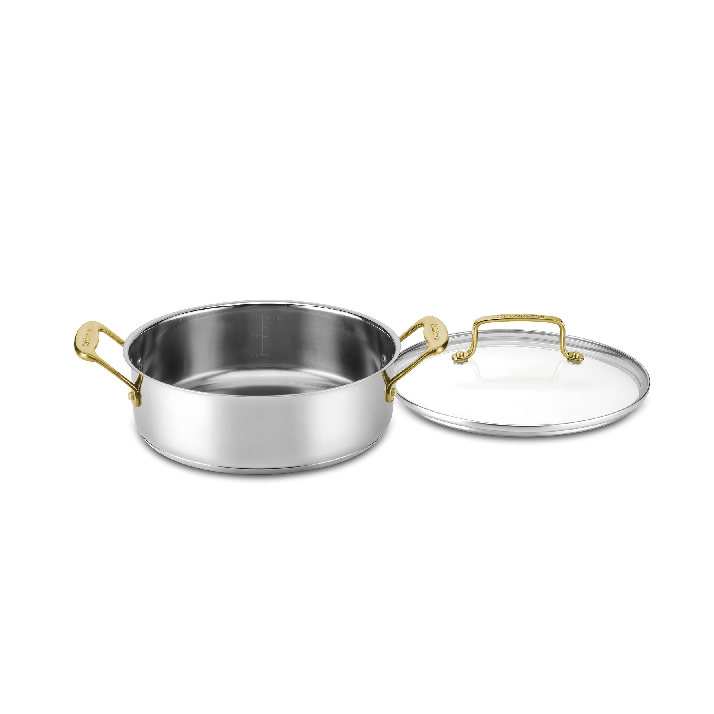 Cuisinart C7M55-24GD Mineral Collection Casserole with Cover, Medium, Stainless Steel