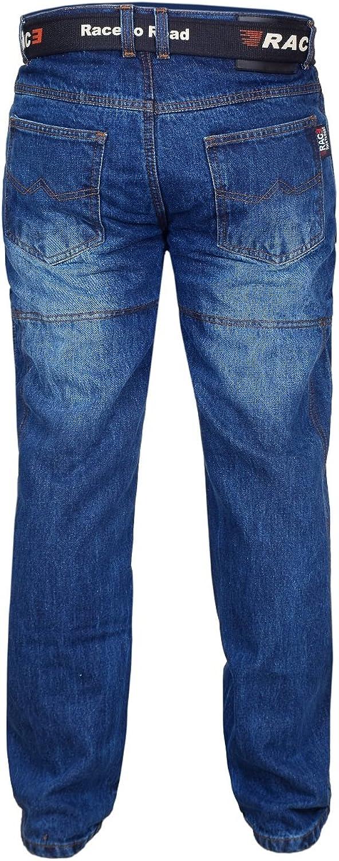 RAC3 Original Mens Motorbike Protective Armoured Lining Denim Jeans Trousers