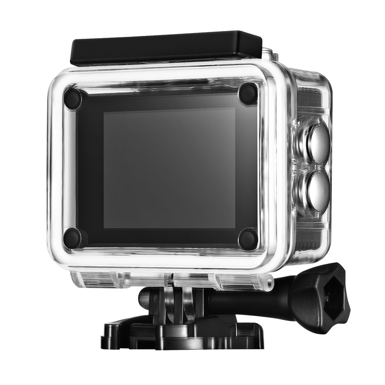 Mpow Waterproof Sport Action Camera, with 170 Degree Wide-angle Lens Full HD 1080p, Suitable for Cycling, Rock climbing, Skiing, Diving and Other Outdoor Activities (Black) by Mpow