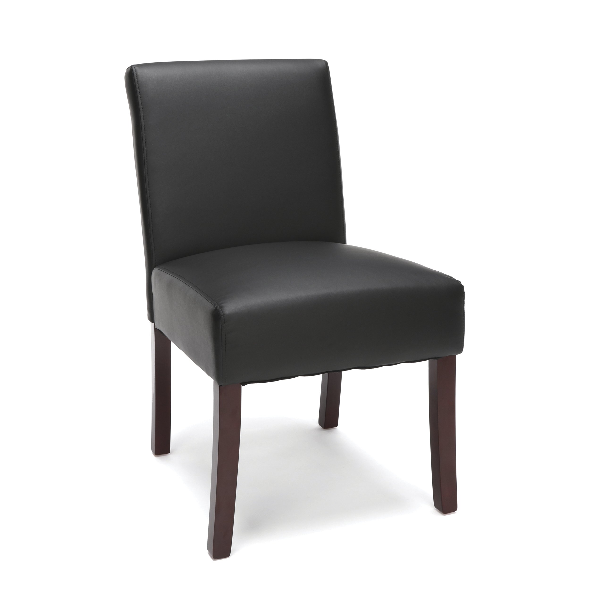 Essentials Executive Guest Chair - Armless Leather Reception Chair, Black (ESS-9020-BLK) by OFM