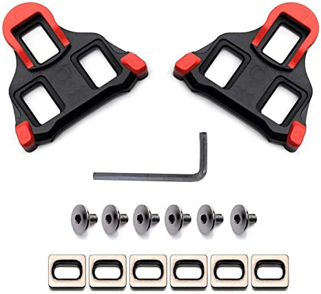 A Pair Pedals Cleats Road Bike For Shimano SM-SH11 SPD-SL Plastic Compatible
