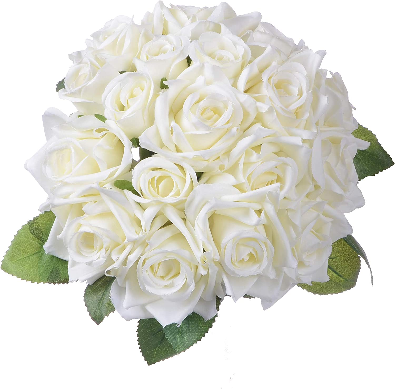 Amazon Com Artiflr Artificial Flowers Rose Bouquet 2 Pack Fake Flowers Silk Plastic Artificial White Roses 18 Heads Bridal Wedding Bouquet For Home Garden Party Wedding Decoration White Home Kitchen