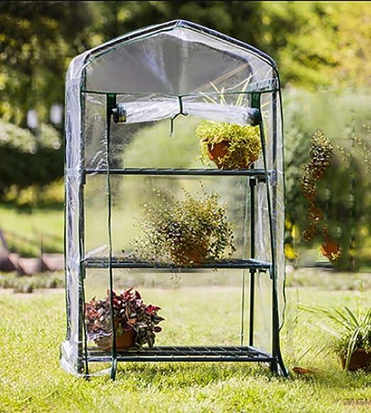 TWS Invernadero del jardín: Invernadero de 3 Pisos con 3 estantes de Rejilla para el jardín de Hierbas al Aire Libre en el Interior Balcón portátil Habitación de Crecimiento: Amazon.es: Hogar