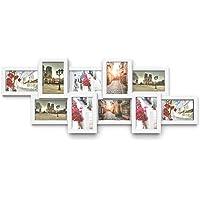 Songmics Cadre photo collage pour 10photos 10x 15cm Cadre Photo en panneaux MDF