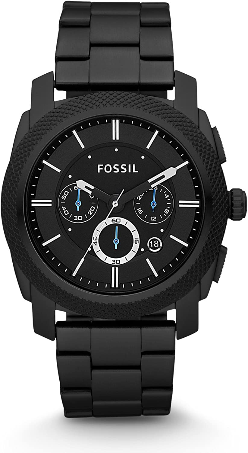 Fossil Mens Machine Stainless Steel Chronograph Quartz Watch