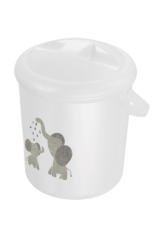 Rotho Babydesign 200210001CG–Contenedor para pañales, moderno elefante 20021 0001 CG