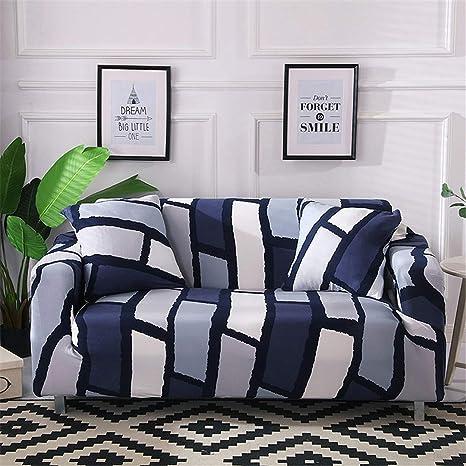 Amazon.com: Funda de sofá elástica geométrica de algodón ...