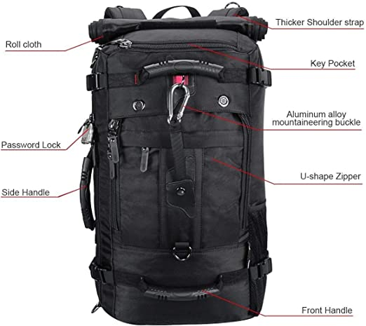 YINXINWANG YinWang 55L Oxford Travel Bag Sac /à Dos de Plein air pour Hommes Sac de Grande capacit/é Sac de randonn/ée Multifonction