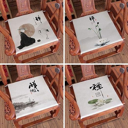 Pads chinos Estilo Zen amortiguador de la silla, cojín ...