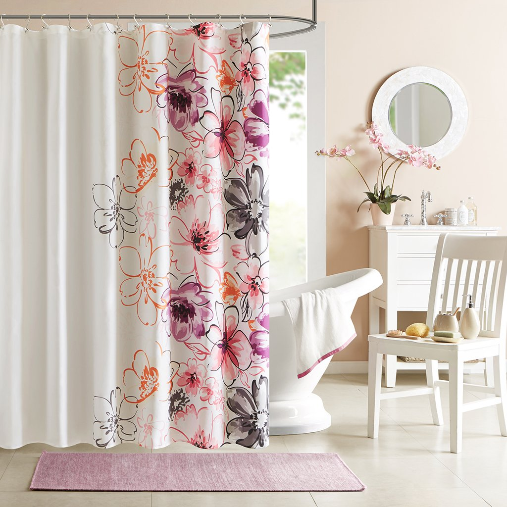 Amazon.com: Intelligent Design ID70-201 Olivia Shower Curtain ...