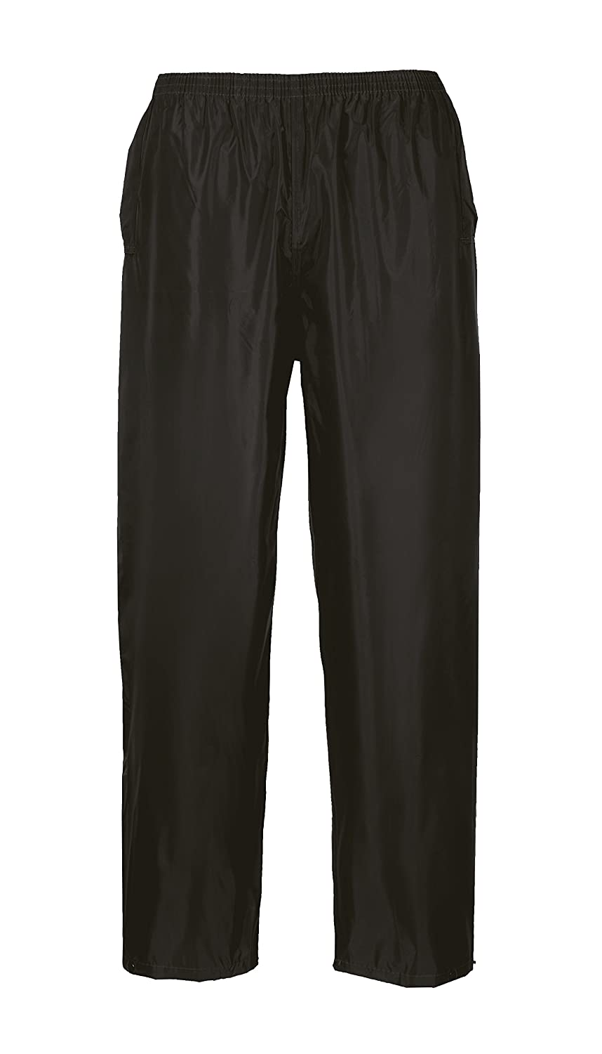 Portwest US441BKRXL Regular Fit Classic Adult Rain Pants, X-Large, Black
