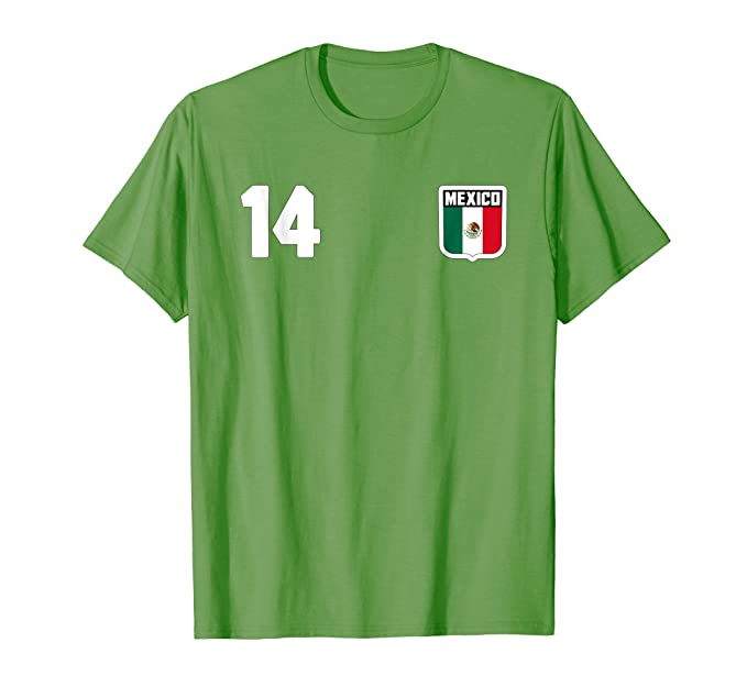 Mens Mexico T-shirt Mexican Flag Soccer Football Fan Jersey 2XL Grass