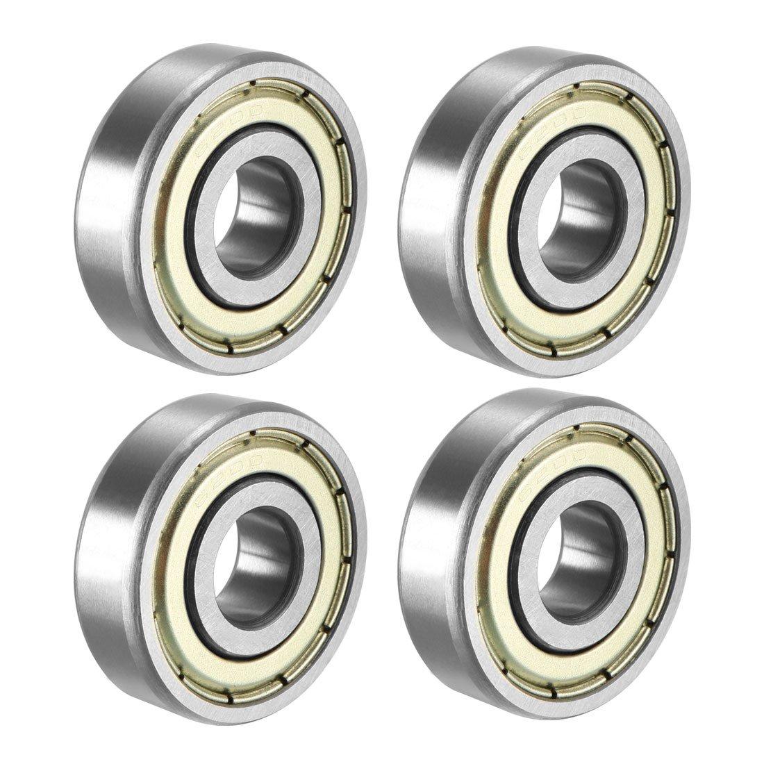 FGen 100pcs Low Noise Motor Dedicated 608RS Skateboard Bearing Fingertip Gyro Special Bearing Radial Ball Bearings