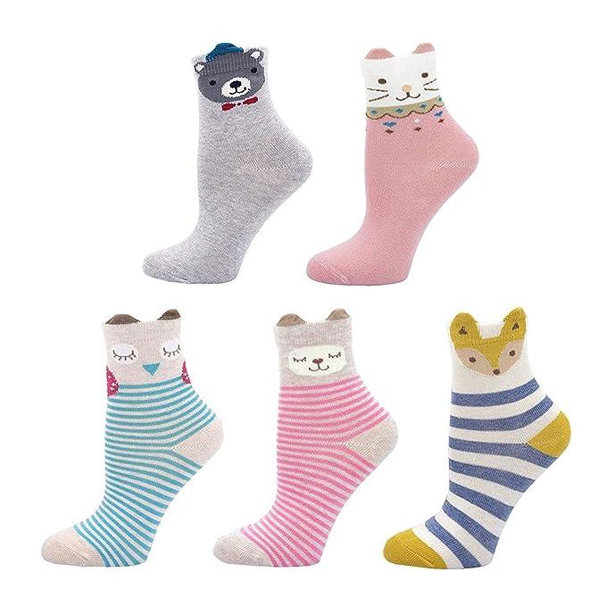 Calcetines de Algodón para Niñas Novedad Diseños Calcetines ...