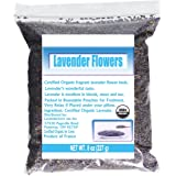 CCnature French Lavender Flowers USDA Organic Dried Lavender 8oz (Culinary Grade)