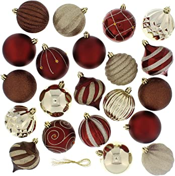 Festive 52 Piece Assorted Bauble Christmas Ornament Set