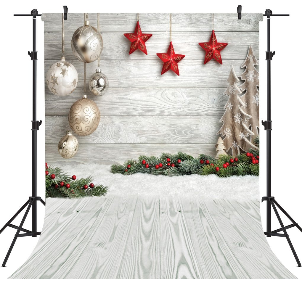 OUYIDA Christmas Theme 5X7FT Seamless CP Pictorial Cloth Photography Background Computer-Printed Vinyl Backdrop SD768C