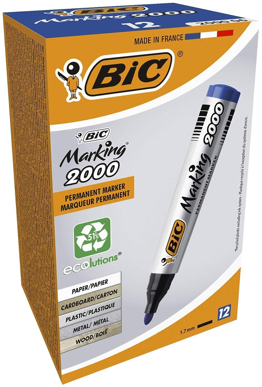 Matite pre-temperate in legno #2 HB Confezione da 150 pezzi Bic Marking 2000 Ecolutions Marcatore Permanente Confezione 12 Marcatori Colore Nero /& Basics