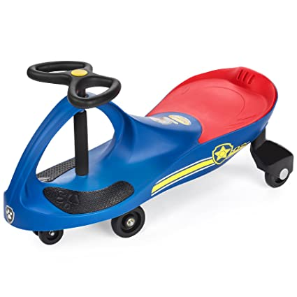 PAW Patrol - The Original PlasmaCar by PlaSmart Inc  - Chase - Blue, Ride  On Toy, Ages 3 yrs and up, No batteries, gears, or pedals, Twist, turn,