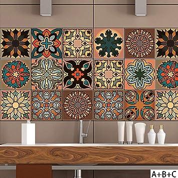 Y Carrelage Autocollant   Sticker Adhésiv Pour Mural De Salle De Bain Et  Cuisine   Tuiles