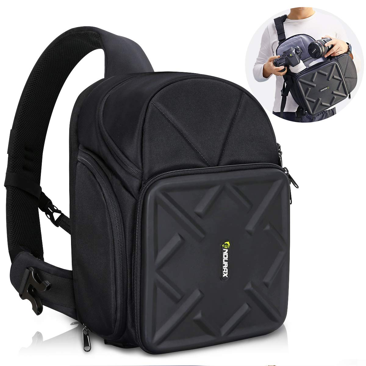 Amazon.com   Endurax Sling Camera Bag Backpack for DSLR Camera with  Customizable Dividers for Long Lens and Waterproof Rain Cover for Canon  Nikon Sony ...