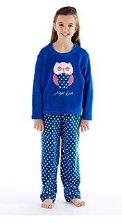 6720d972bcc4 Childrens Girls Teen Coral Super Soft Fleece Owl   Unicorn   Cloud    Dreaming Pyjamas Lounge