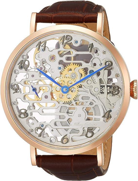 [アルカフトゥーラ] 腕時計 メカニカルスケルトン 8322RGBR メンズ ブラウン