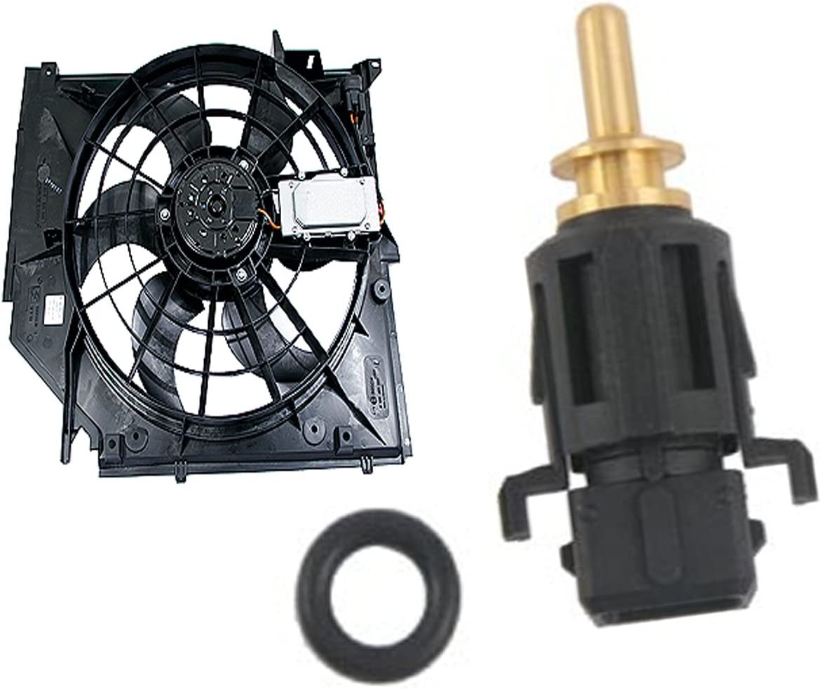 For Engine Coolant Temperature Fan Sensor Aux Switch in Radiator Hose For BMW