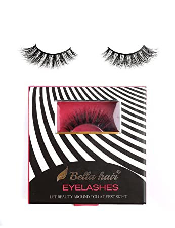79c703bb04d Amazon.com : 【Daily-Wear】100% 3D Siberian Mink Lashes, Natural Looking Mink  Fur Strip False Eyelashes 1 Pair Box (STYLE 19) by Bella Hair : Beauty