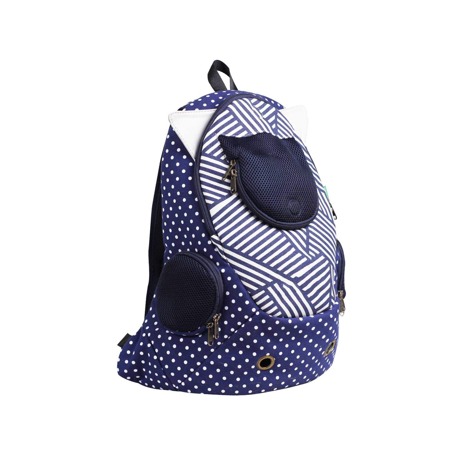 bluee Cat Backpack, Lightweight Backpack for Small Dog with Front Window Outdoor Pet Backpack for Traveling and Hiking (color   bluee)