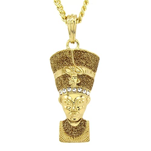 330e375af48c2 Men's Hip Hop Bling 14k Gold Plated Stardust G Mini Egyptian Pharaoh ...