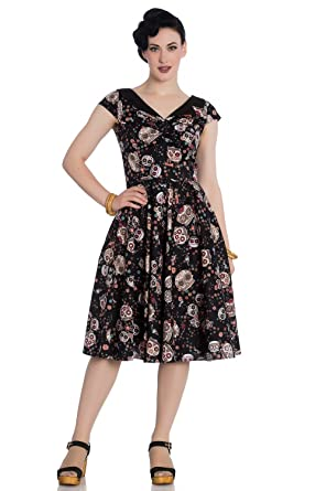 Hell Bunny Idaho Sugar Skull Psychobilly 50s Punk Rockabilly Dress