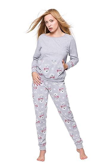 Sensis Women s Floral Long Sleeve Pyjama Set  Amazon.co.uk  Clothing 8706b3704
