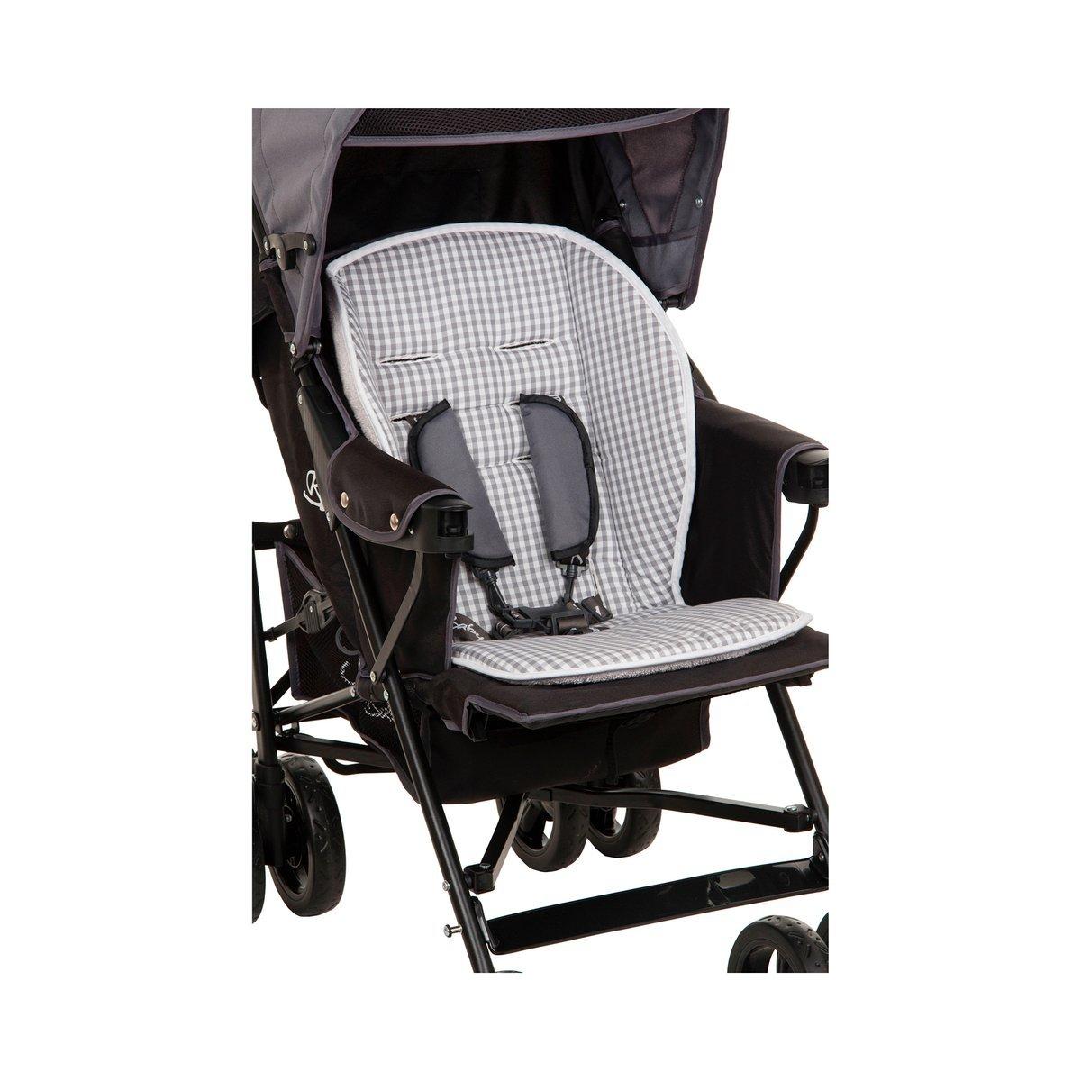 Babycab Sitzauflage Mia Lux/Wendeauflage Sportwagen/Buggy / Memory-Schaum/grau karo