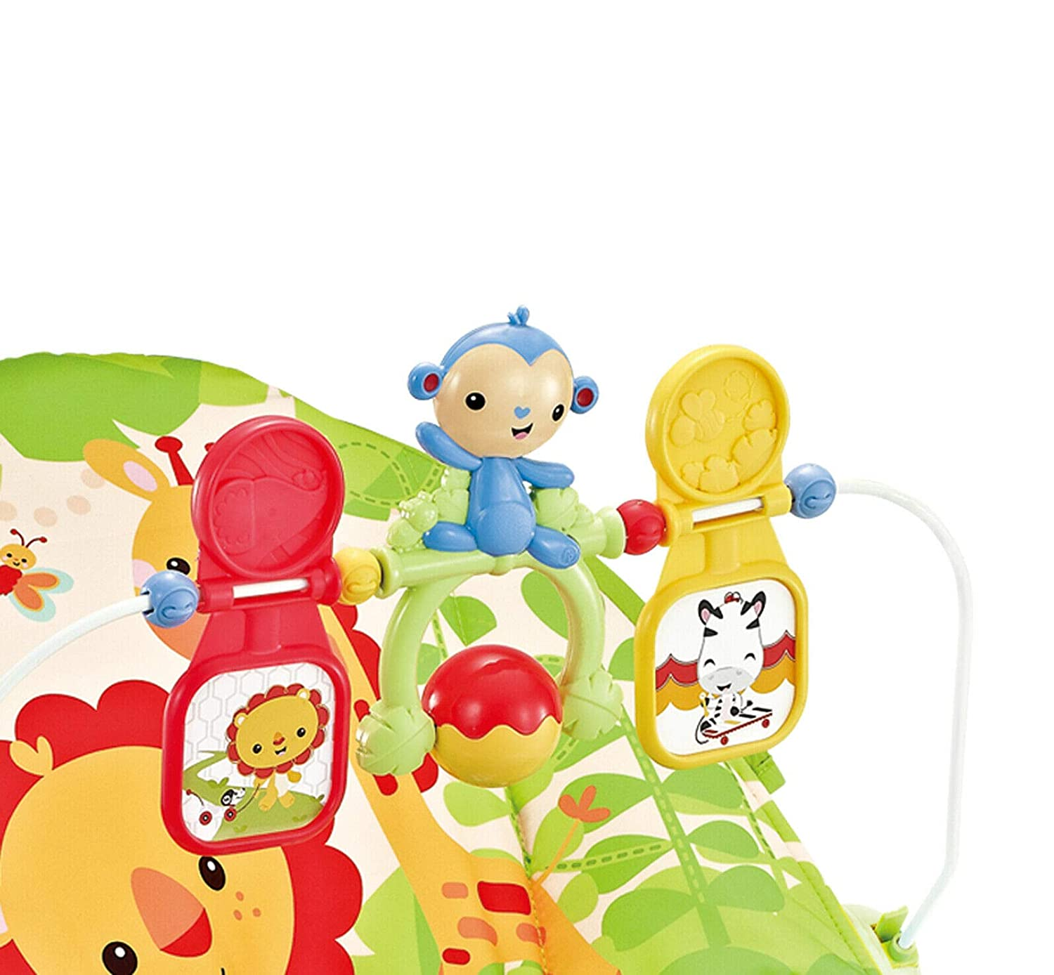 Animal Kingdom Baby Rocker Bouncer Chair with Soothing Music /& Vibrations