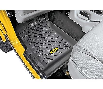 Bestop 51509 01 Front Pair Of Floor Mats For Jeep Wrangler 1997 2006