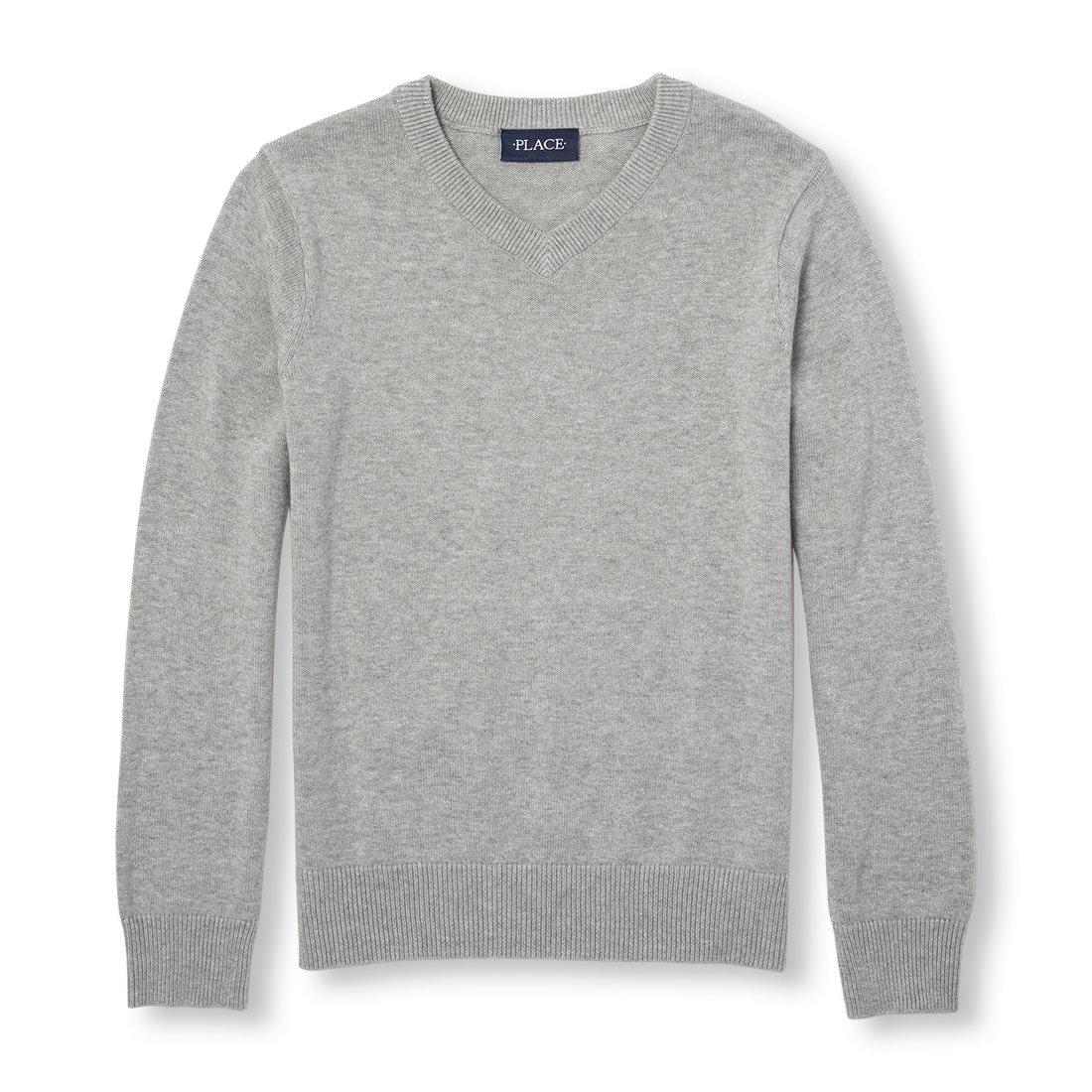 The Children's Place Big Boys' Long Sleeve Sweater, SMOKEB10 00606, M (7/8)