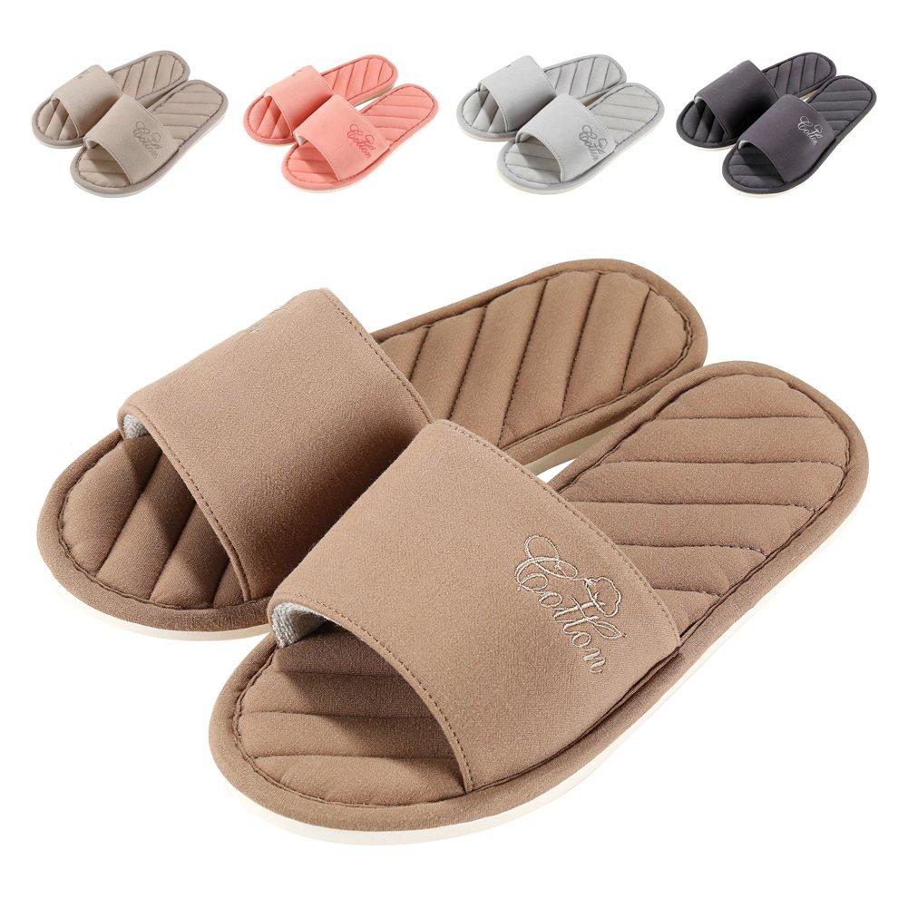 Women Open Toe Slip on Home Slippers Comfort Memory Foam Slippers Indoor Outdoor House Slippers Shoes