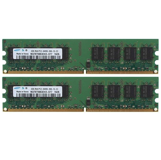 x 2GB = 8GB 4 Samsung M378T5663EH3-CF7 DDR2 PC2-6400 PC2-6400U Desktop RAM LOT