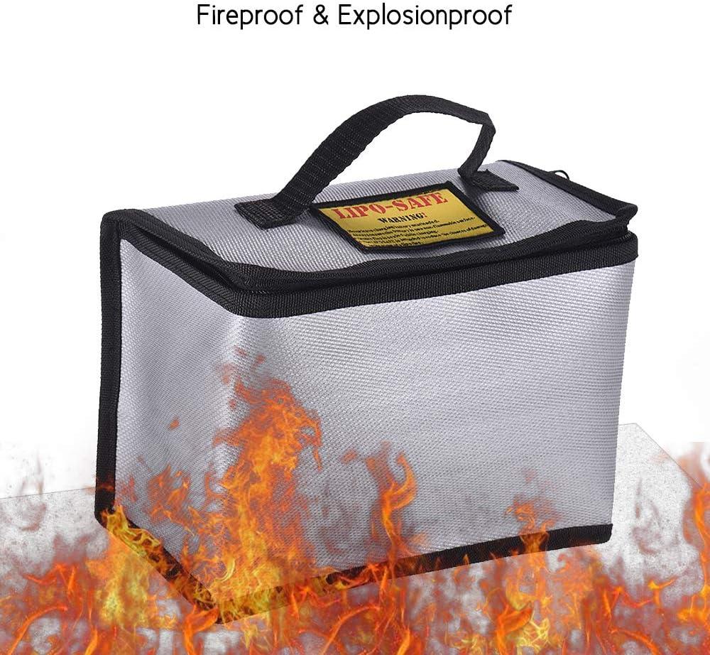 115 155mm Leslaur Sac de poche r/ésistant /à la chaleur portatif de poche de sac s/ûr de batterie de Lipo anti-d/éflagrant ignifuge pour la charge et le stockage de batterie 215