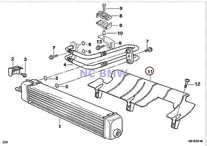 BMW auténtica Radiador Aceite de motor conducto de aire de ...