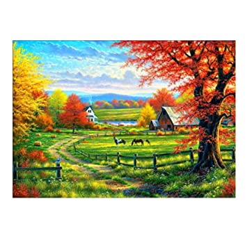 DIY 5D Diamond Picture vmree Full Drill Rhinestone Embroidery Painting Crystals Pasted Handcraft Cross Stitch Handiwork Kits Visual Arts Home Decor E, 15.7/×11.8