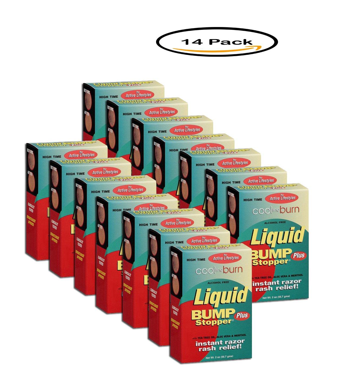 PACK OF 14 - Bump Stopper Plus Instant Razor Rash Relief Liquid, 2 oz
