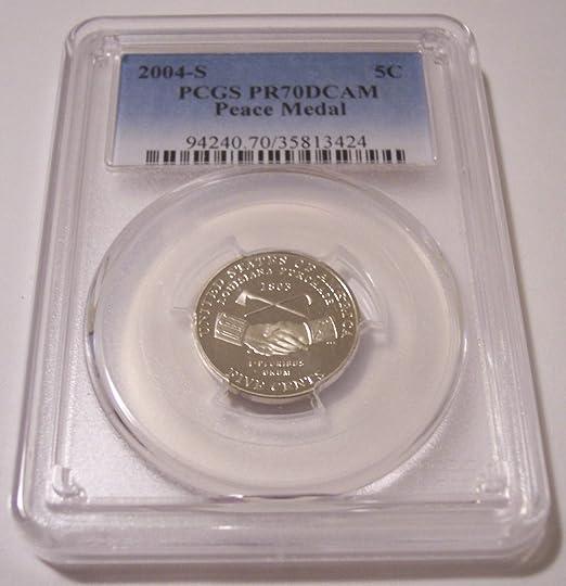 New PCGS Label 2004-S PCGS PR70DCAM Jefferson KEEL BOAT Nickel