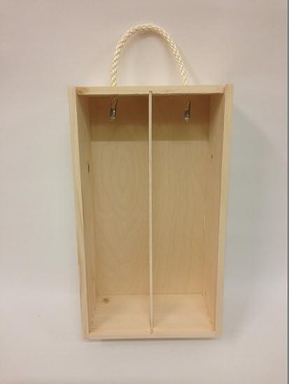 Caja de madera para el vino con tapa deslizante y cuerda Souvenir Día de la Madre